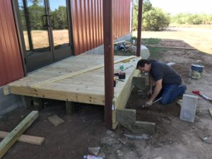 Logan Ranch - Front Deck Build